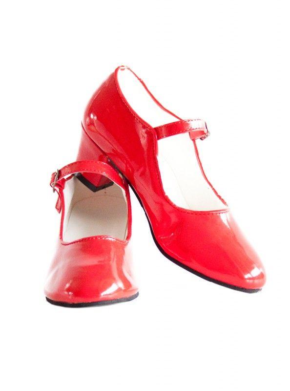 Spaanse schoenen rood lak + GRATIS glitter hanger   SPAANSE SCHOENEN ...