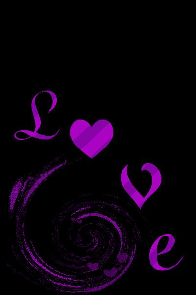 purple images | This is the colorful purple love heart black Wallpaper, Background,