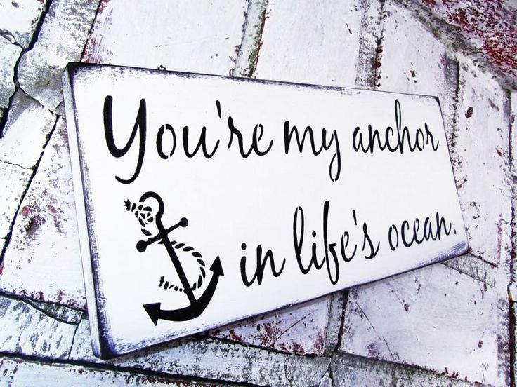 "Nautical Wedding Signs ""You're My Anchor In Life's Ocean"" Anchor ..."