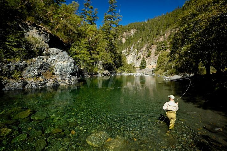 Even the left coast has a few beautiful places to fly fish.  -  Look at the clarity!