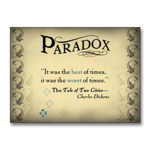 "Amazon.com: Literary Tools: Paradox English Literature Poster featuring a quote from ""A Tale of Two Cities"" by Charles Dickens. Laminated Educational Art Print: Office Products"