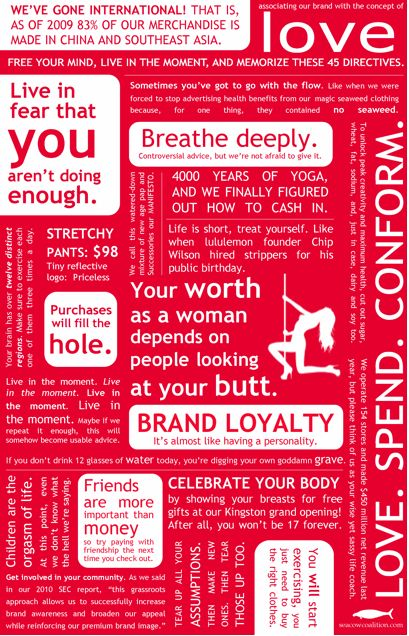 this is NOT the lululemon manifesto.  it is, however, hilarious.
