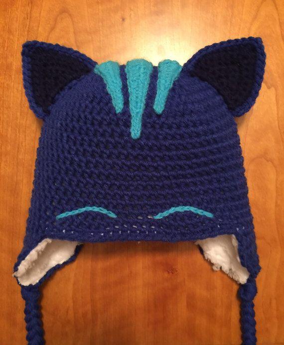 Handmade Fleece Lined Crochet Crocheted Disney Jr Pj Masks