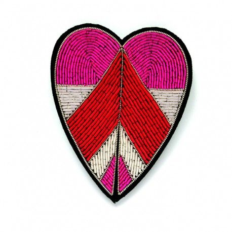 """LARGE HAND-EMBROIDERED """"SHIELD-LEAF"""" BROOCH // Macon & Lesquoy"""