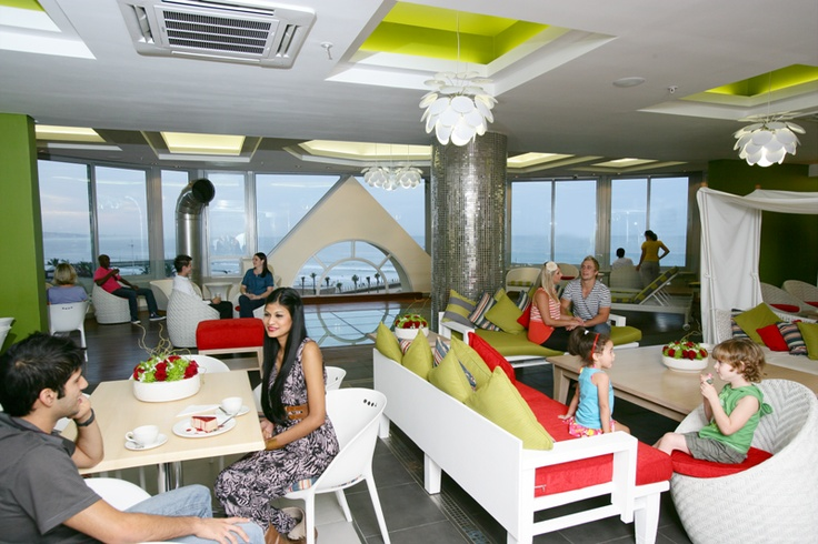 The Palace Resort and Spa, situated in Durban. This photo is of their 5th floor that has a food bar and spa