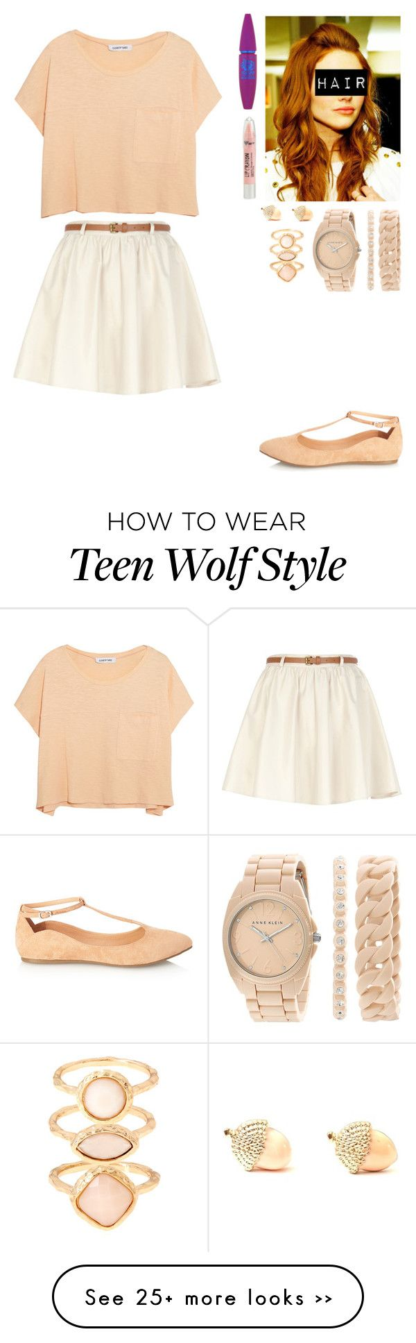 """ the indentions of your fingerprints still scar my skin //"" by tangie-leigh on Polyvore featuring Forever 21, River Island, Elizabeth and James, Aéropostale, Maybelline, Monsoon, Anne Klein, beige, pastels and goldjewelry"