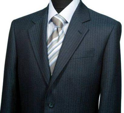 como combinar terno risca de giz com gravata