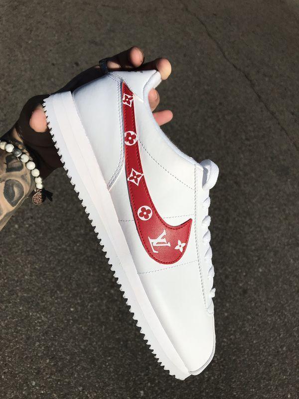 Custom LV Nike Cortez's for Sale in