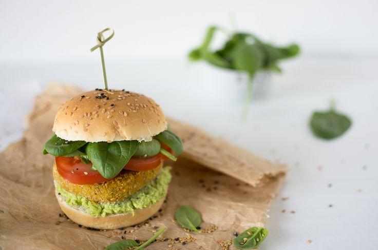 ··· Crème de Cassis ··· : Burger di zucca, grano e semi di chia