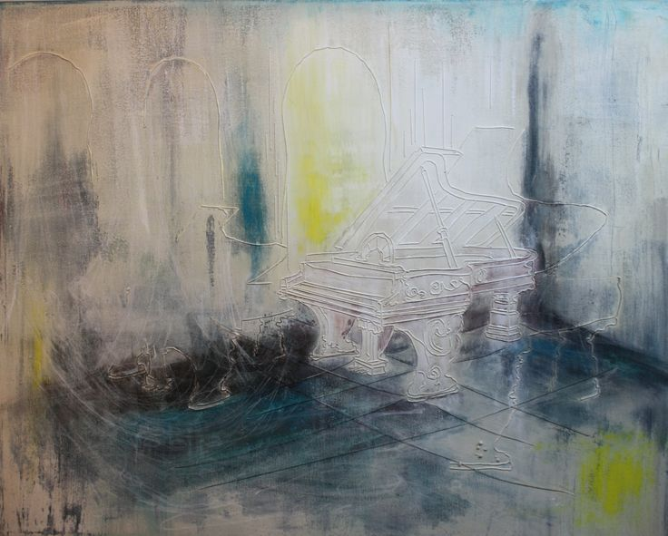 """Grand Escape 24"""" x 30"""" thread, charcoal, and acrylic on stretched canvas www.karengoetzinger.com"""