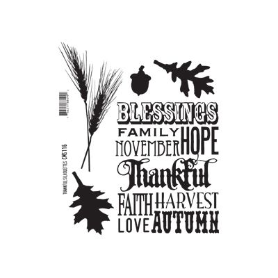 Thankful Silhouettes Cling Mount Stamps Tim Holtz Stampers Anonymous CMS116