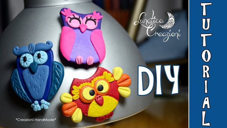 Polymer Clay Tutorial: Calamite con Gufi in pasta polimerica | How to ma...