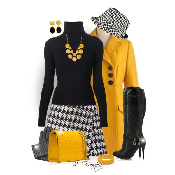 """Houndstooth"" by bbroxton on Polyvore"