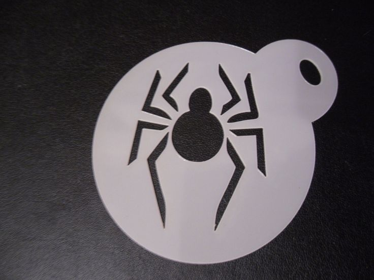 Unique bespoke new laser cut spider cookie/face painting stencil - Visit to grab an amazing super hero shirt now on sale!