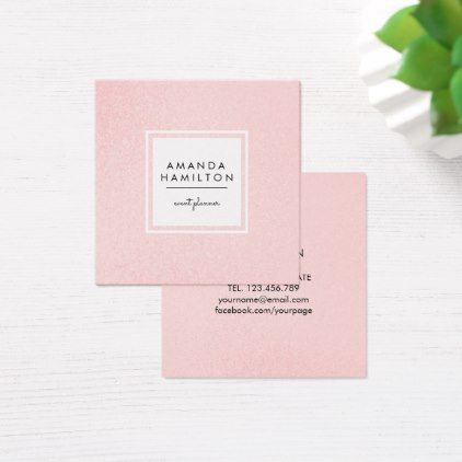 Simple Elegant Champagne Glitter Beauty Stylist Square Business Card - stylist business cards cyo personalize businesscard diy