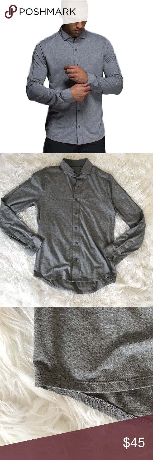 """• Lululemon • Men's Rival Button Down Gray - Lululemon - Men's - Rival Button Down Shirt - Gray - No Size Tag - Chest 19"""" - Length 26"""" - Either a small or medium - Excellent Condition lululemon athletica Shirts Casual Button Down Shirts"""