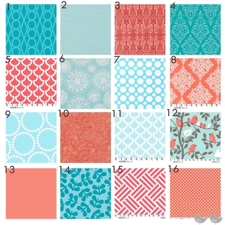 Coral Grey And Aqua Fun Patterns And Textures Arreglos