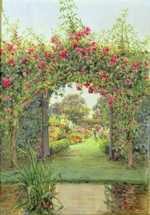 Crimson Rambler de Ernest Arthur Rowe (1863-1922, United Kingdom)