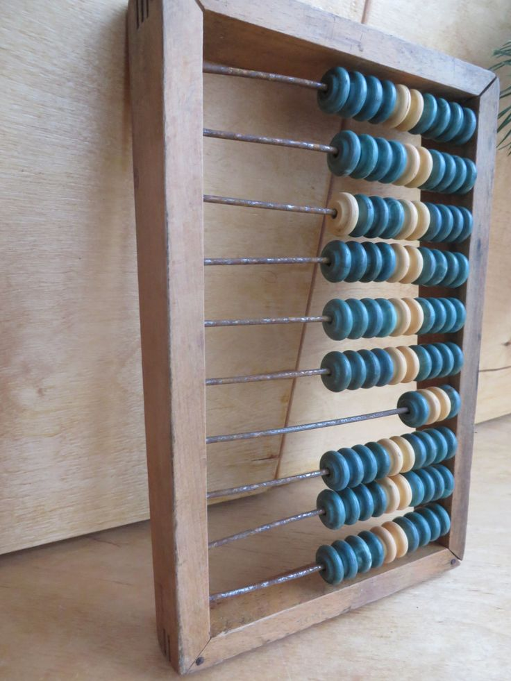 Soviet school wooden abacus. Old russian abacus. Wood ...