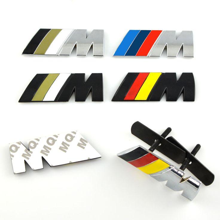 Mobil styling Dekorasi Mobil Emblem Badge M Logo Logam 3D Mobil Stiker untuk BMW M3 M5 X3 X5 X6 E36 E39 E46 E30 E60 E92 mobil-styling