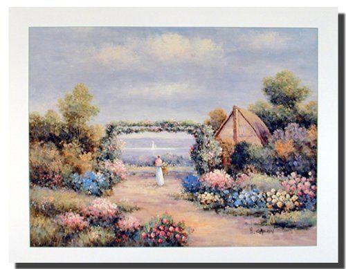 Absolutely stunning! Add this landscape art print wall poster to your beautiful home. This poster shoes the picture of a country cottage flower garden which surely brightens up your wall and makes it the center of attraction. After seeing this poster your guests will surely compliment your decor style. Get up and buy this landscape nature floral scenery art print poster for its excellent quality with perfect color accuracy.