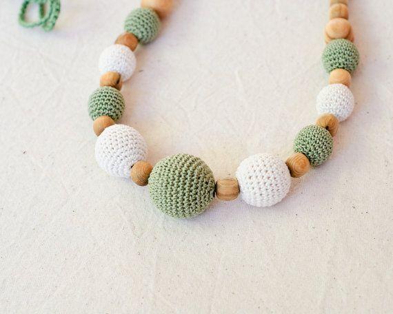 Olive & Cream collana Nursing / Collana di dentizione per la mamma di indossare