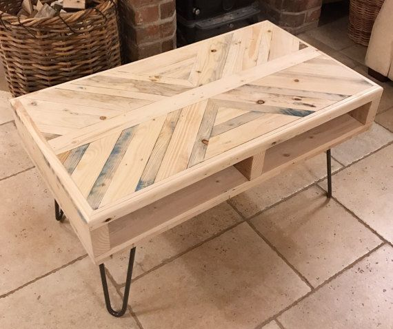 Reclaimed Coffee Table – Rustic – Industrial – Hairpin Legs – Hand Made – Reclaimed Pine – Wo…