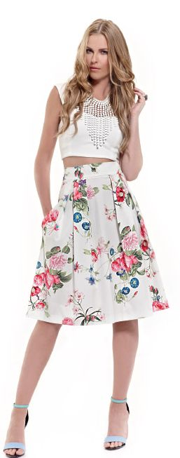 Choose a romantic floral skirt to steal the show to an upcoming date!