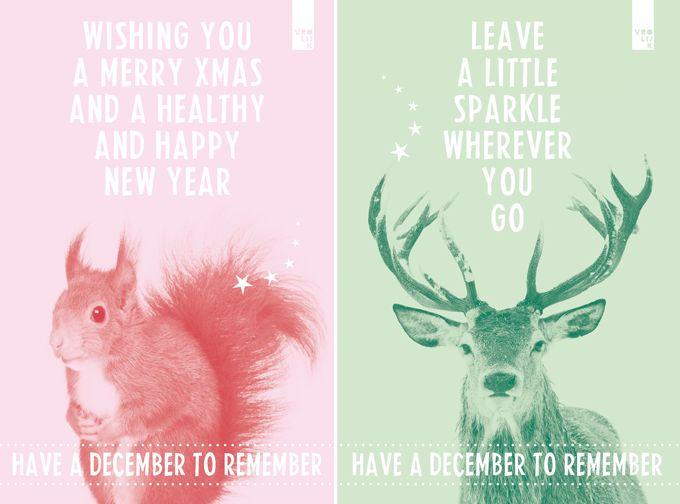 Christmastcard illustrated by @studiovrolijk; seen on HappyMakersBlog.com