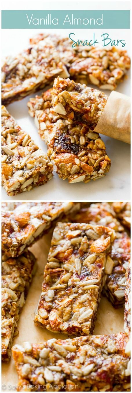 These copycat KIND bars are GF, dairy free, made with easy, healthy ingredients and are a satisfying healthy snack! Recipe found on sallysbakingaddiction.com