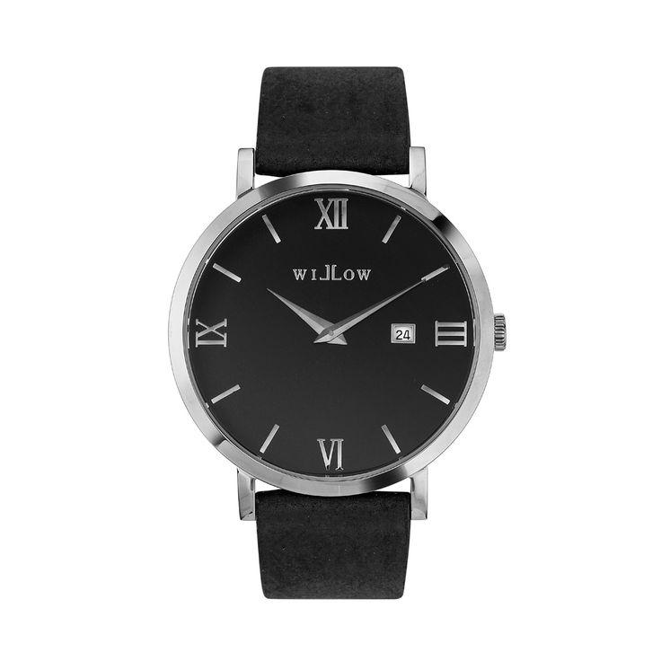 Treviso Silver Watch & Interchangeable Black Vegan Strap.