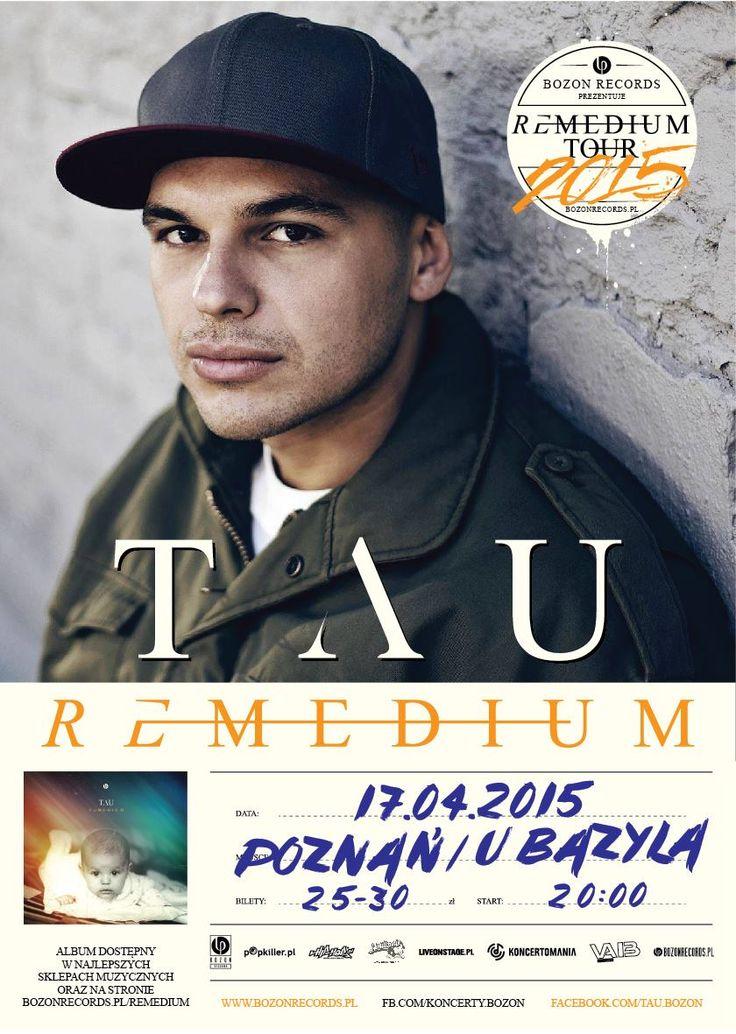 """BOZON RECORDS zaprasza na koncert TAU promujący debiutancki album pt. """"REMEDIUM"""", który idbędzie się 17.04 w Poznaniu. Podczas tego wydarzenia będzie można również usłyszeć utwory z płyt """"Teoria równoległych wszechświatów"""" i ''Graal''."""
