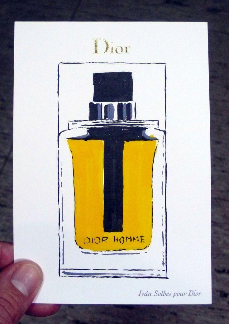 En Diciembre de 2015 trabajé para Dior durante tres fines de semana en sus tiendas de Madrid y Valencia. Por la compra de cualquier artículo el cliente tenía opción de recibir una tarjeta personalizada con un dibujo y una dedicatoria que yo mismo realizaba en el momento con témperas y tinta china.  Tres fines de semana dibujando perfumes y escribiendo mensajes de cariño a personas que a día de hoy quizás conserven su tarjeta en algún lugar visible de sus hogares.