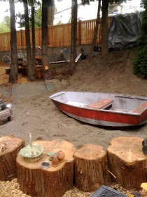 "Tree stumps, sand & a boat. Gorgeous ("",)"