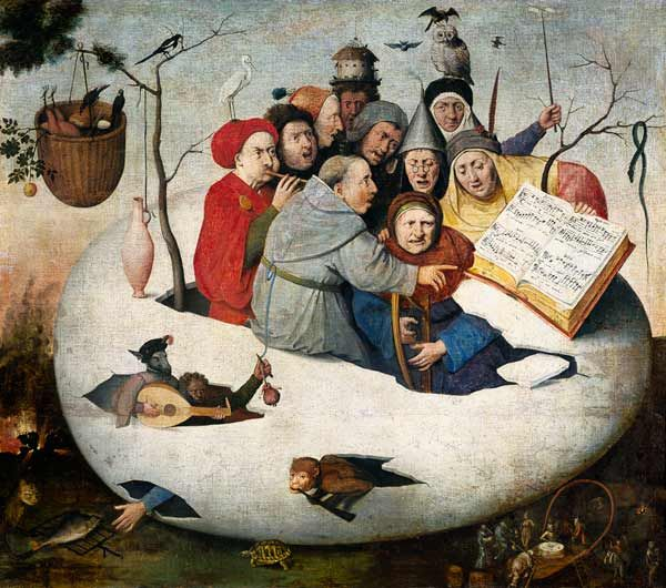 Hieronymus Bosch, the concert in the egg, 1560