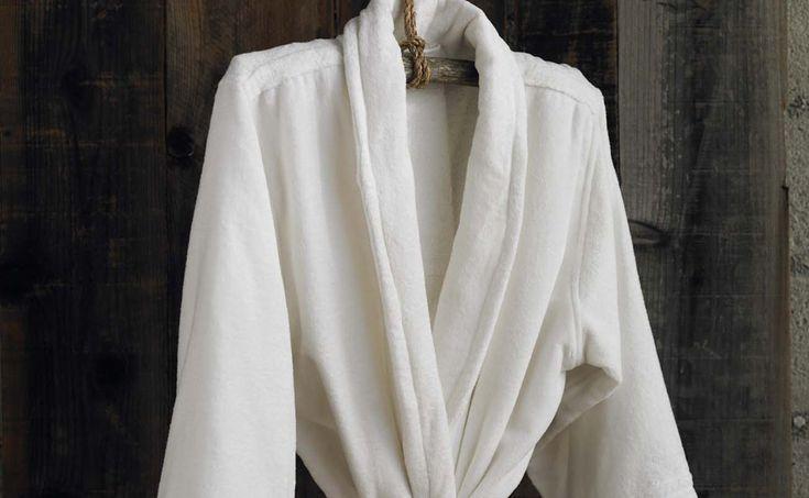 Terry Velour Unisex Cotton Robe.