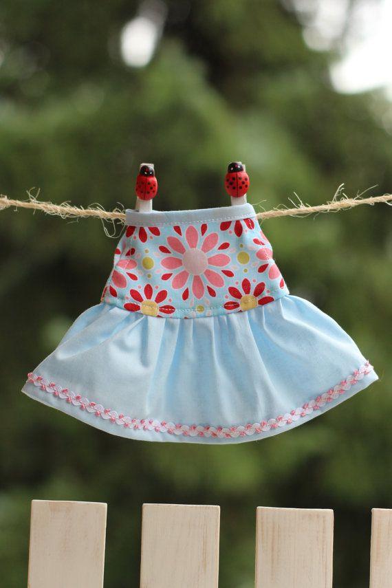My 12 inch Fashion Doll Clothes Sleeveless Dress by RibizliDesign