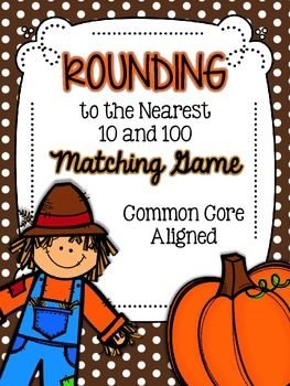 Rounding Match-Up Game {Common Core Aligned 3rd Grade} *FREEBIE*