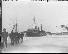 Turku (Åbo), Murtaja; jäänmurtaja ankkurissa jäisellä merenlahdella