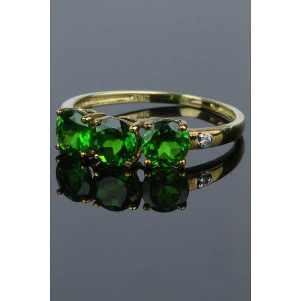 Green topaz diamond ring, statement ring trend, wife gift ideas... ($92) ❤ liked on Polyvore featuring jewelry, rings, christmas jewelry, statement diamond rings, statement rings, talon ring and christmas jewellery