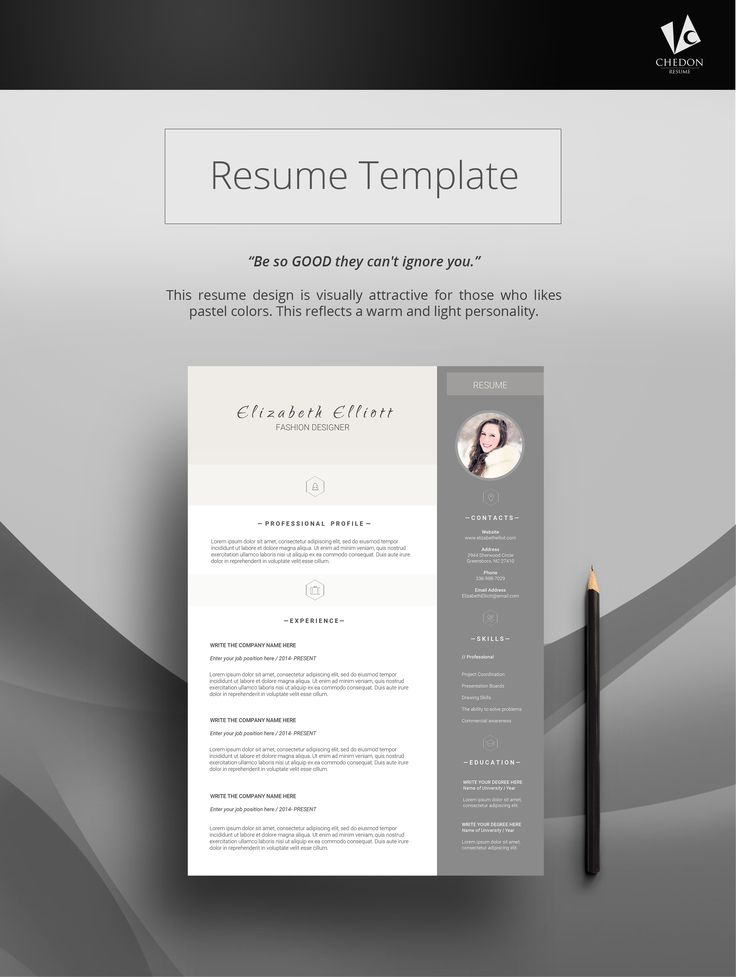 25 Best @ Jobs Resume Templates Images On Pinterest | Cv Template