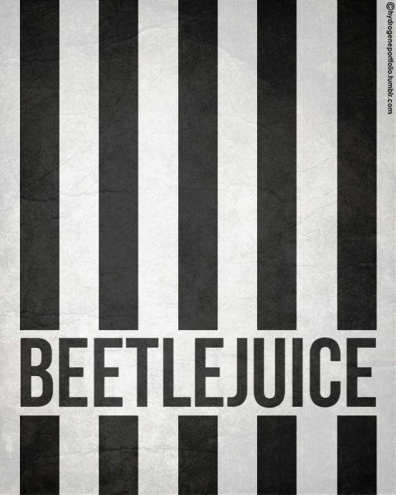 Beetlejuice (1988) ~ Minimal Movie Poster by Hydrogene Portfolio #amusementphile