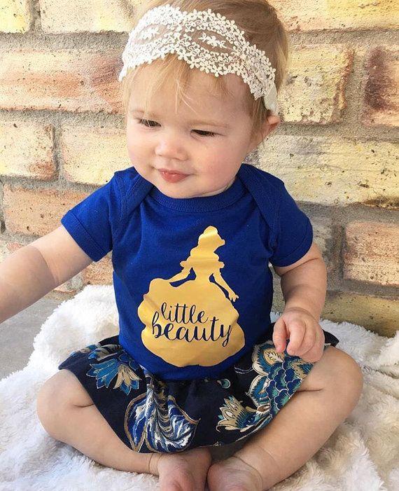 Little Beauty. Belle inspired onesie. Disney by LullaBabywear