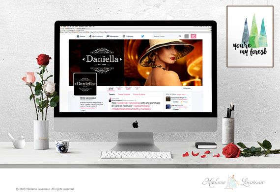 wordpress header design hero image header premade logo design website header social branding