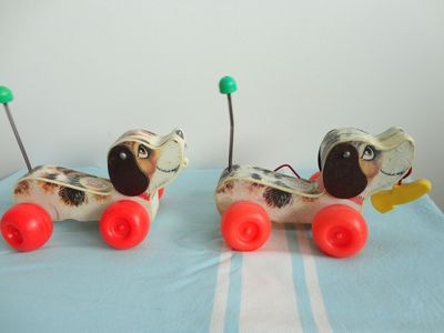 Dogs Fisher Price seventies toy Vintage