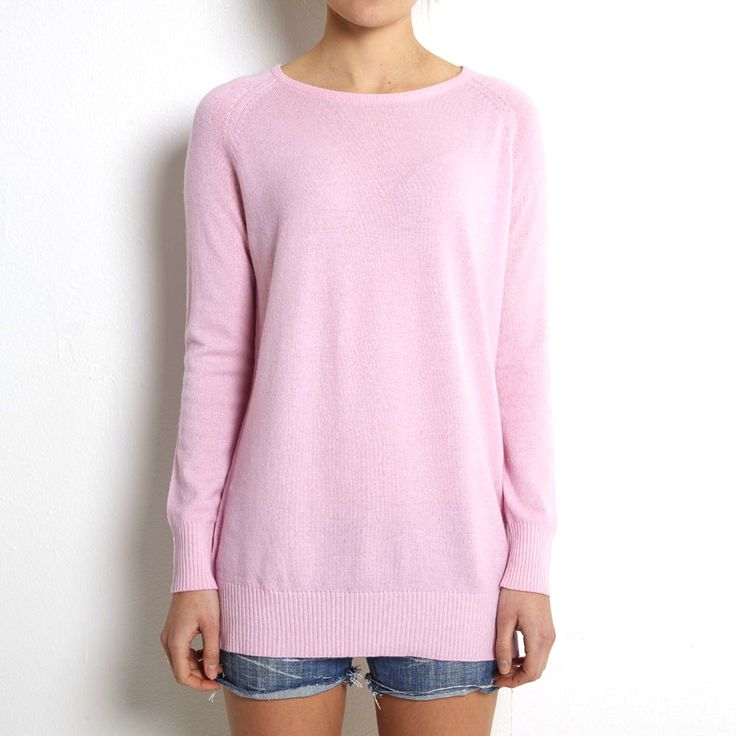 Oversized sweater pink cashmere www.wildwool.no