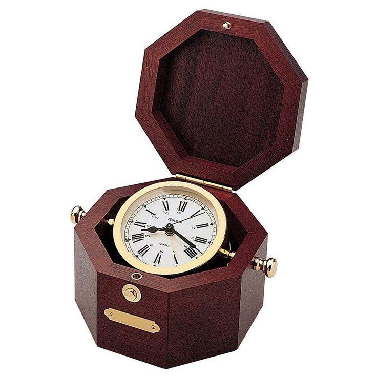 Bulova Quartermaster Alarm Clock - B7910