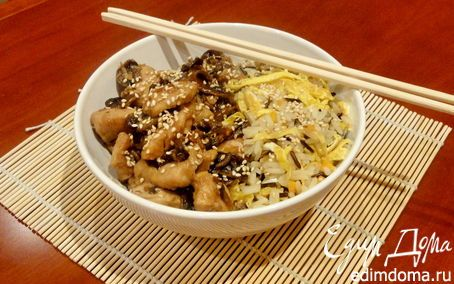 Хибачи с курицей (с соусом терияки) | Кулинарные рецепты от «Едим дома!»