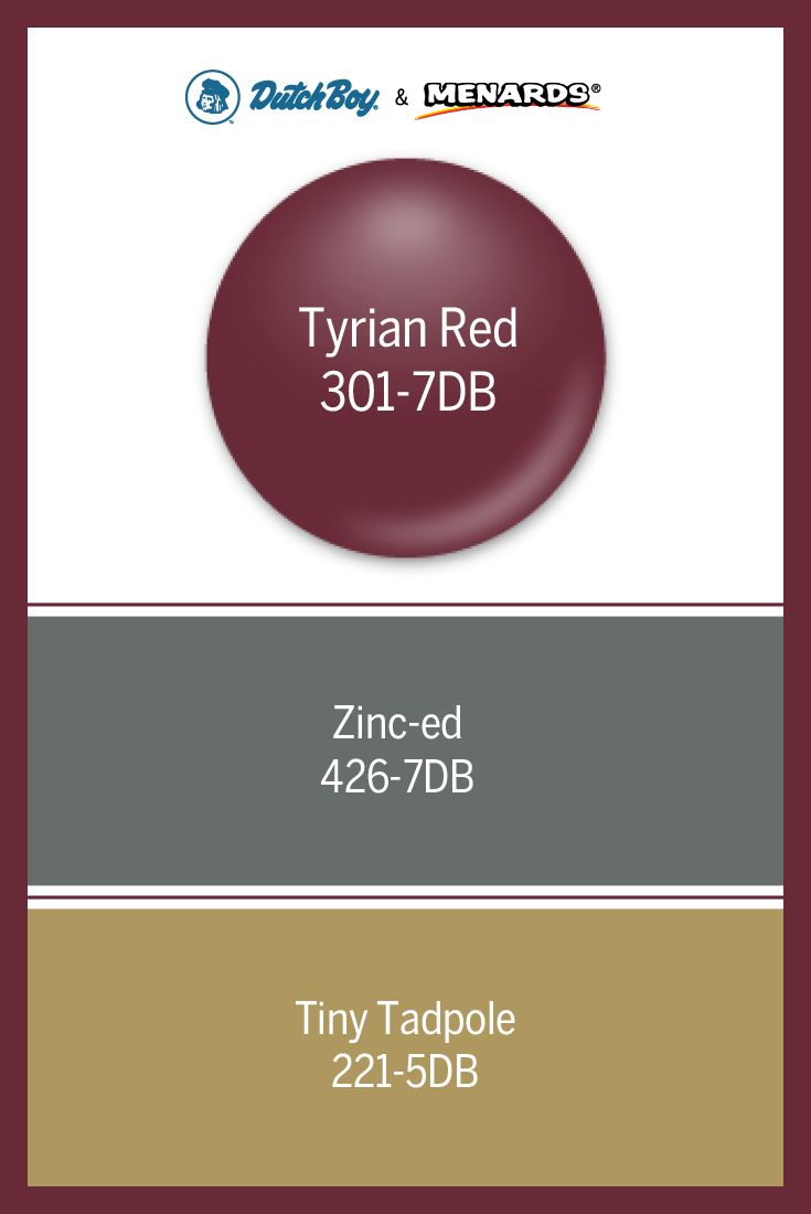 menards exterior house paint. next project by our dutch boy® live your moment colors for september \u2013 tyrian red 301 zinc-ed and tiny tadpole now available at local menards ®. exterior house paint n
