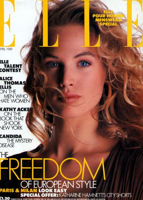 Joanna Rhodes  -  Elle UK April 1989